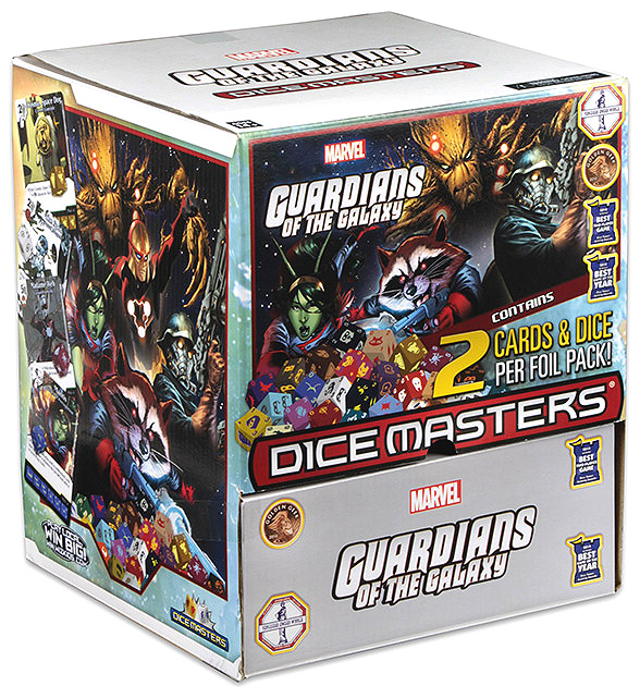 Marvel Dice Masters: Guardians Of The Galaxy Gravity Feed Display (90) Box Front