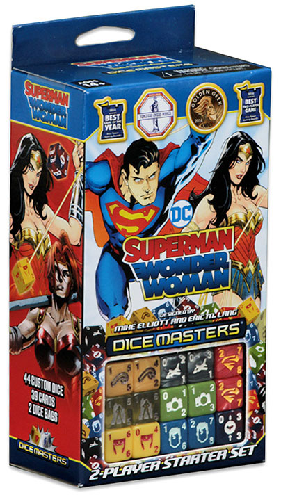 Dc Dice Masters: Superman And Wonder Woman Starter Set Box Front