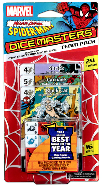 Marvel Dice Masters: Spider-man Maximum Carnage Team Pack Box Front