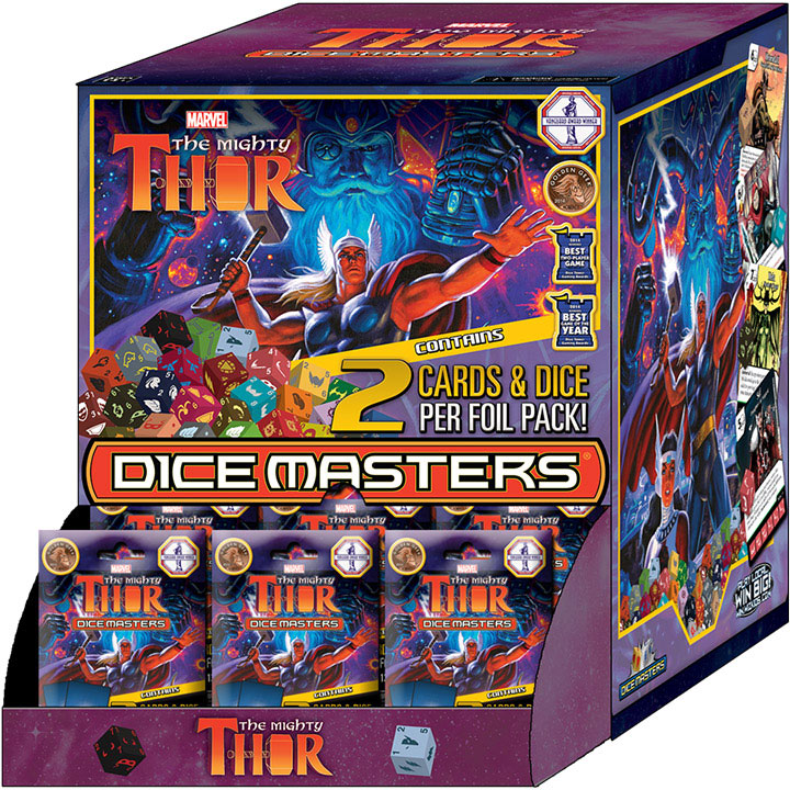 Marvel Dice Masters: The Mighty Thor Gravity Feed (90) Box Front