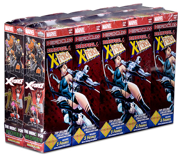 Marvel Heroclix: Deadpool And X-force Booster Brick (10) Box Front
