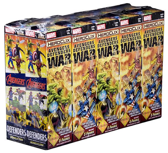Marvel Heroclix: Avengers/defenders War Booster Brick (10) Box Front