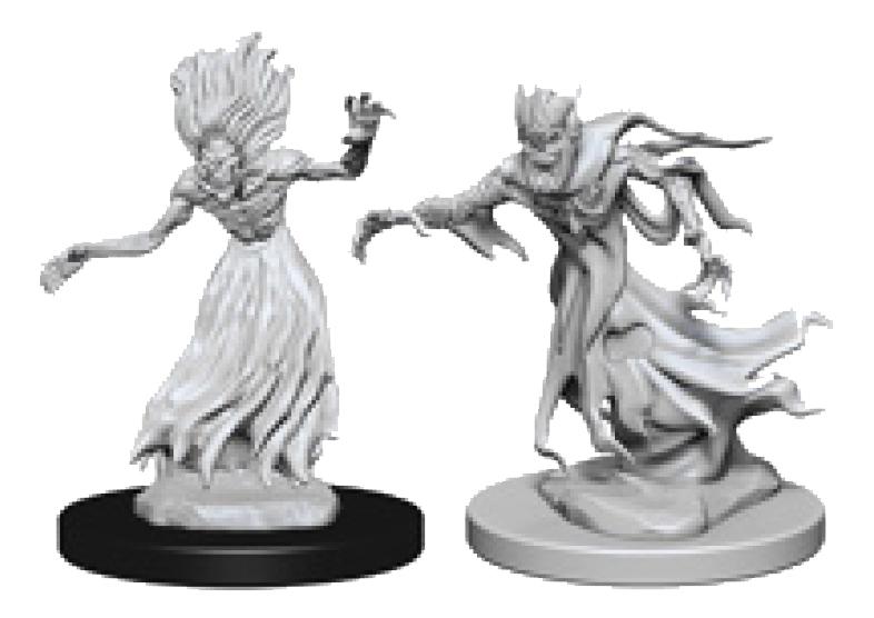 Dungeons & Dragons Nolzur`s Marvelous Unpainted Miniatures: Wraith & Specter Box Front