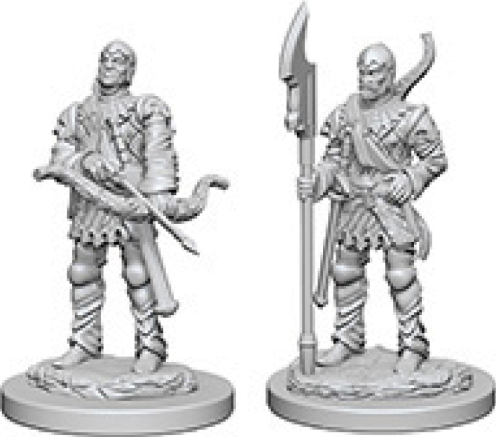 Pathfinder Deep Cuts Unpainted Miniatures: Town Guards Box Front