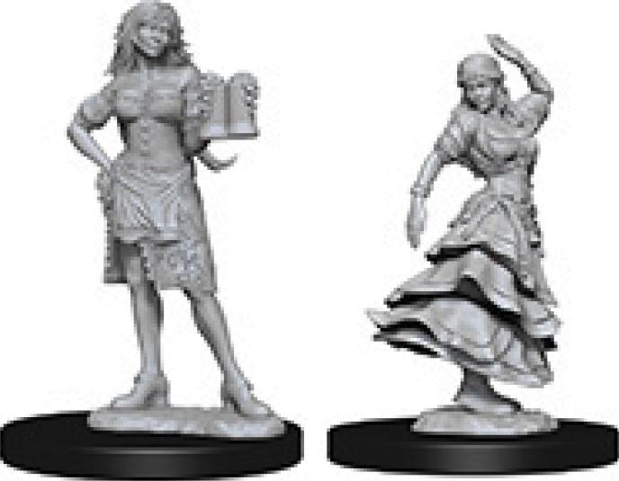 Pathfinder Deep Cuts Unpainted Miniatures: Bartender/dancing Girl Box Front