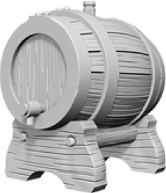 Wizkids Deep Cuts Unpainted Miniatures: Keg Barrels Box Front
