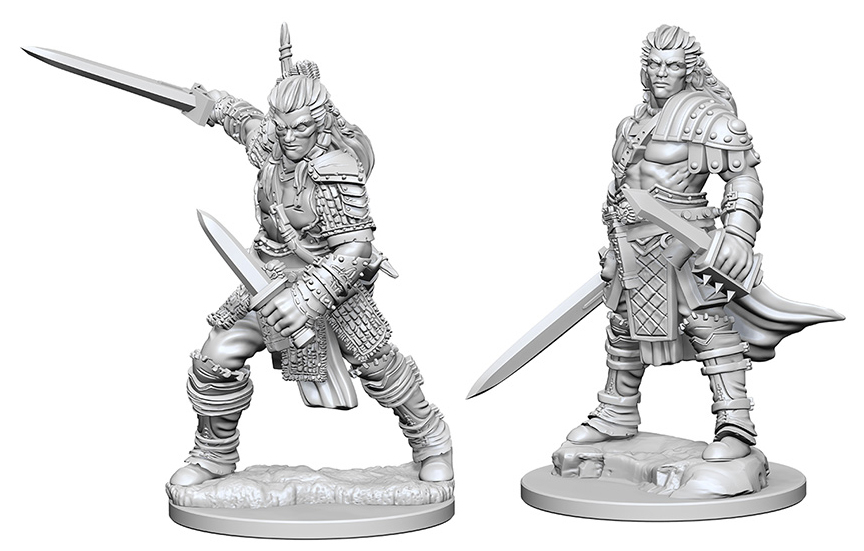 Pathfinder Deep Cuts Unpainted Miniatures: Human Male Fighter Box Front