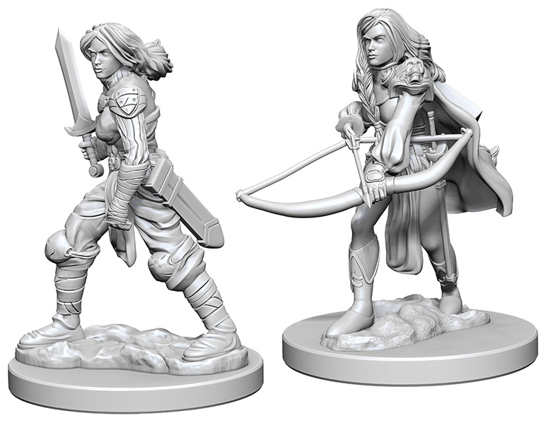 Pathfinder Deep Cuts Unpainted Miniatures: Human Female Fighter Box Front