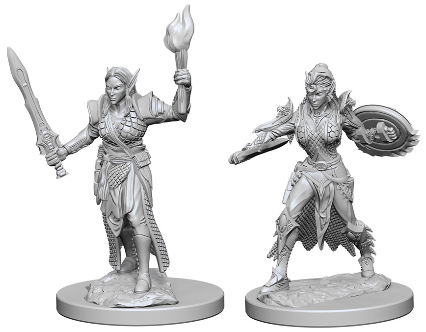 Pathfinder Deep Cuts Unpainted Miniatures: Elf Female Fighter Box Front