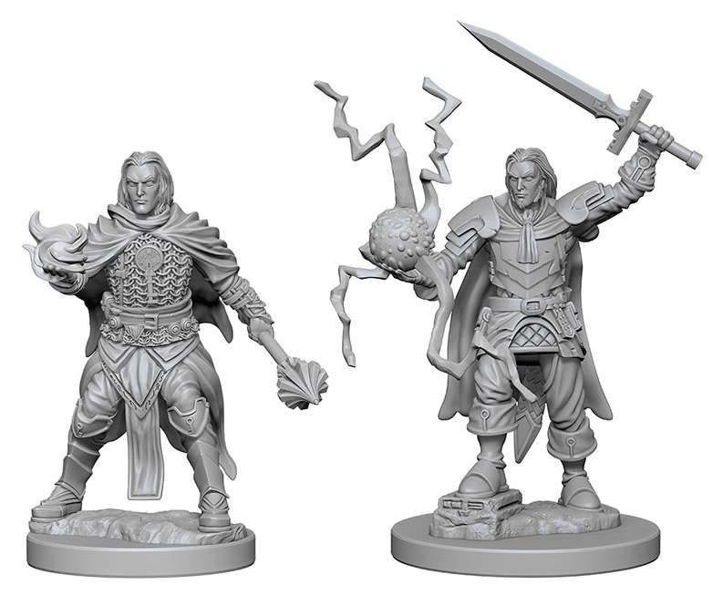Pathfinder Deep Cuts Unpainted Miniatures: Human Male Cleric Box Front