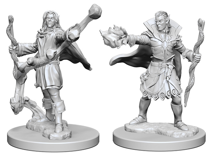Pathfinder Deep Cuts Unpainted Miniatures: Elf Male Sorcerer Box Front