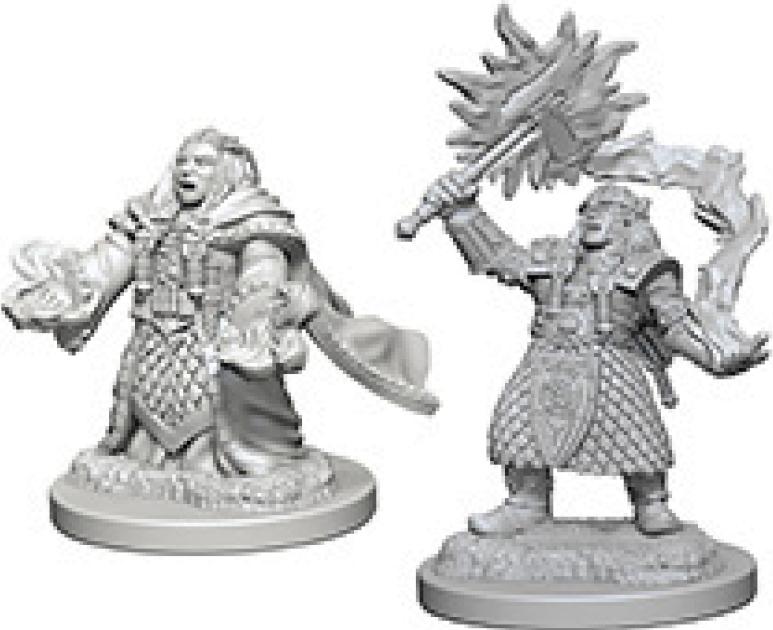 Dungeons & Dragons Nolzur`s Marvelous Unpainted Miniatures: Dwarf Female Cleric Box Front