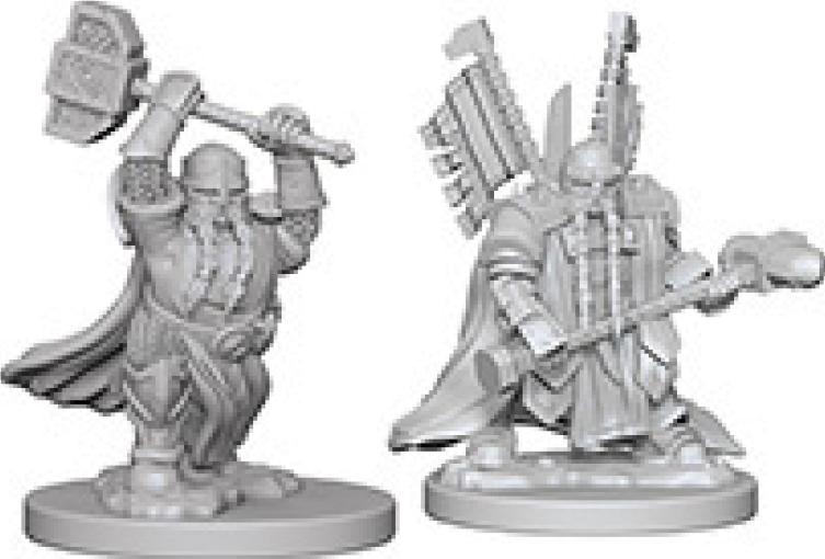 Dungeons & Dragons Nolzur`s Marvelous Unpainted Miniatures: Dwarf Male Paladin Box Front