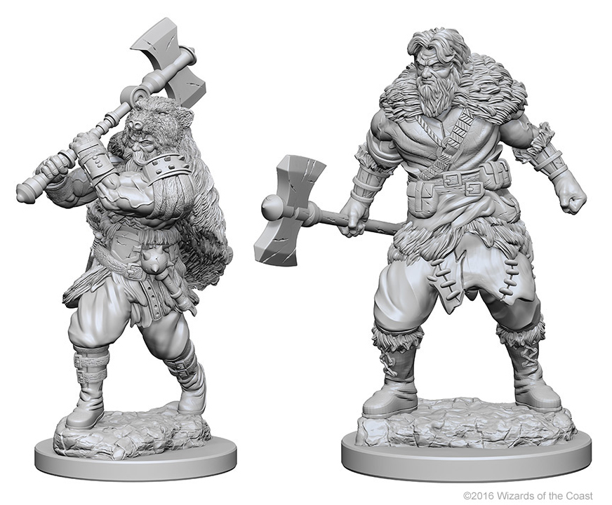 Dungeons & Dragons Nolzur`s Marvelous Unpainted Miniatures: Human Male Barbarian Box Front
