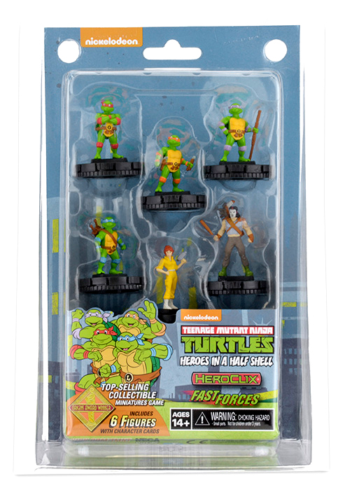 Teenage Mutant Ninja Turtles Heroclix: Heroes In A Half Shell Fast Forces Pack Box Front