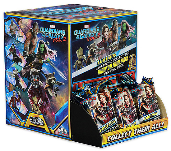 Marvel Heroclix: Guardians Of The Galaxy V2 `a` (core/hobby) Gravity Feed Display (24) Box Front