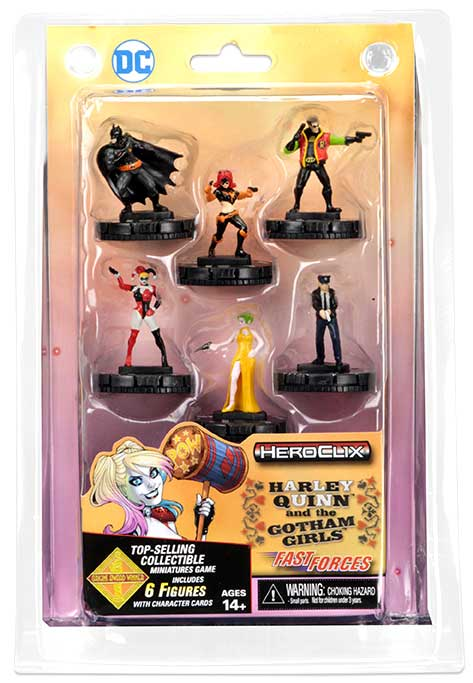 Dc Heroclix: Harley Quinn And The Gotham Girls Fast Forces Box Front