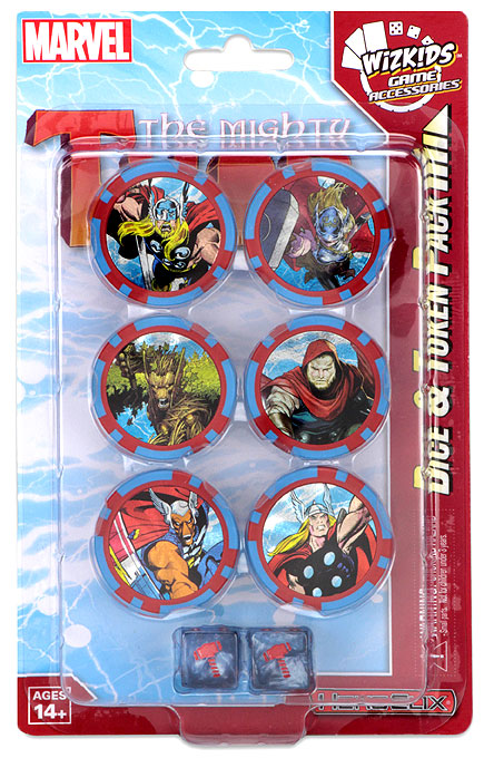 Marvel Heroclix: The Mighty Thor Dice And Token Pack Box Front