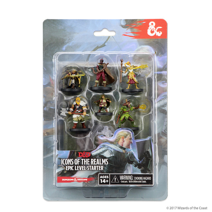 Dungeons & Dragons Fantasy Miniatures: Icons Of The Realms Epic Level Starter Set Box Front