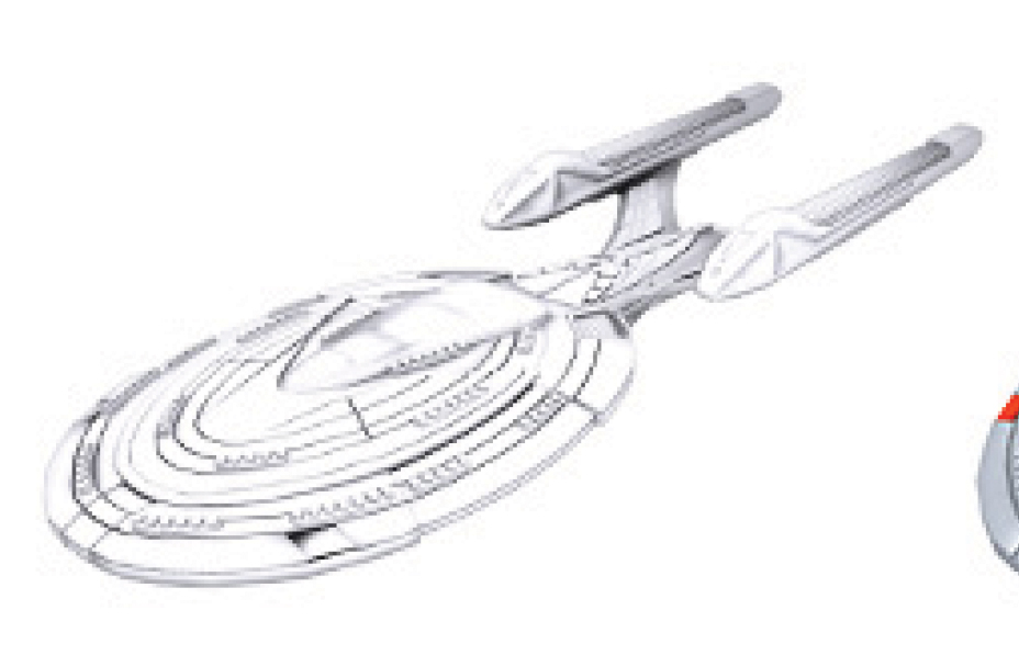 Star Trek Deep Cuts Unpainted Ships: Sovereign Class Box Front