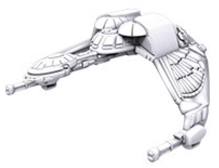 Star Trek Deep Cuts Unpainted Ships: Klingon Bird-of-prey Box Front