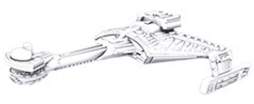 Star Trek Deep Cuts Unpainted Ships: K`t`inga Class Box Front
