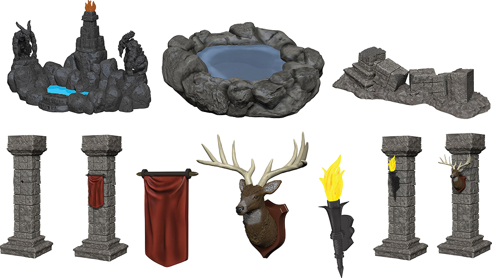 Wizkids Miniatures: Fantasy Terrain - Painted Pools & Pillars (set 1) Box Front