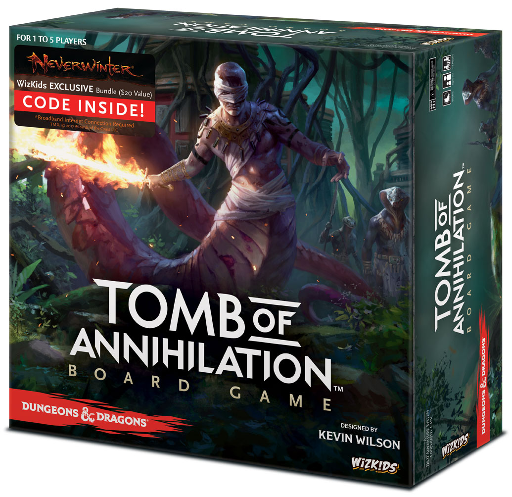 Dungeons & Dragons: Tomb Of Annihilation Board Game Premium Edition Box Front