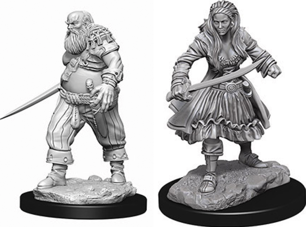 Wizkids Deep Cuts Unpainted Miniatures: Pirates Box Front