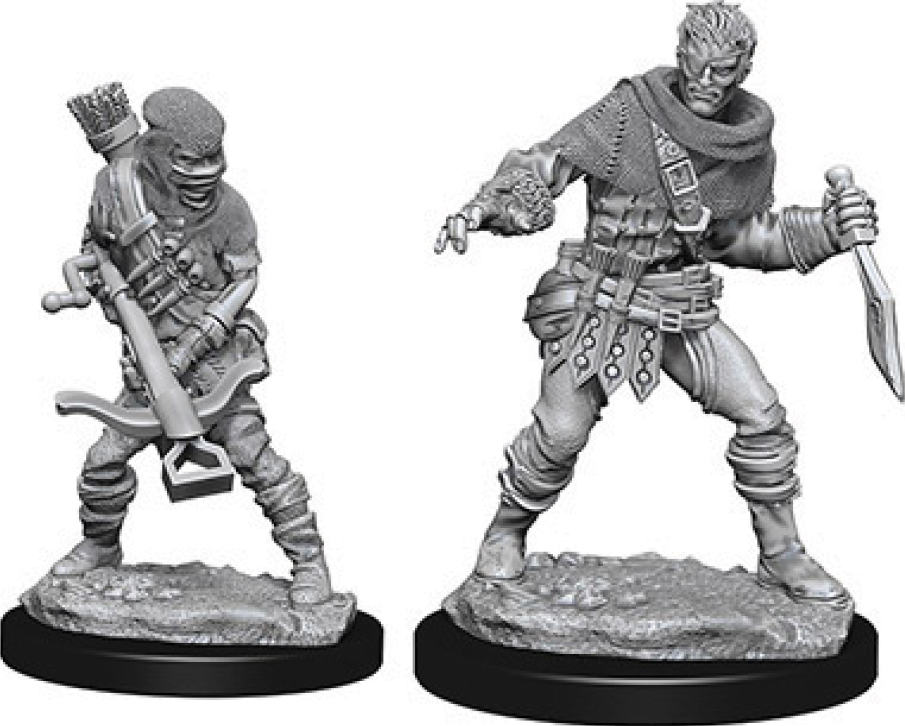 Wizkids Deep Cuts Unpainted Miniatures: Bandits Box Front