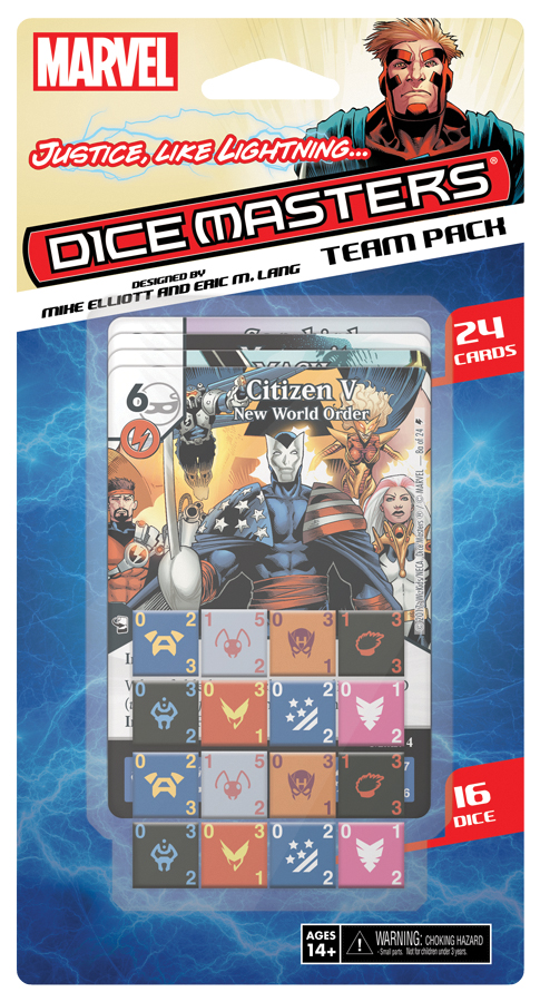 Marvel Dice Masters: Justice Like Lightning Team Pack Box Front