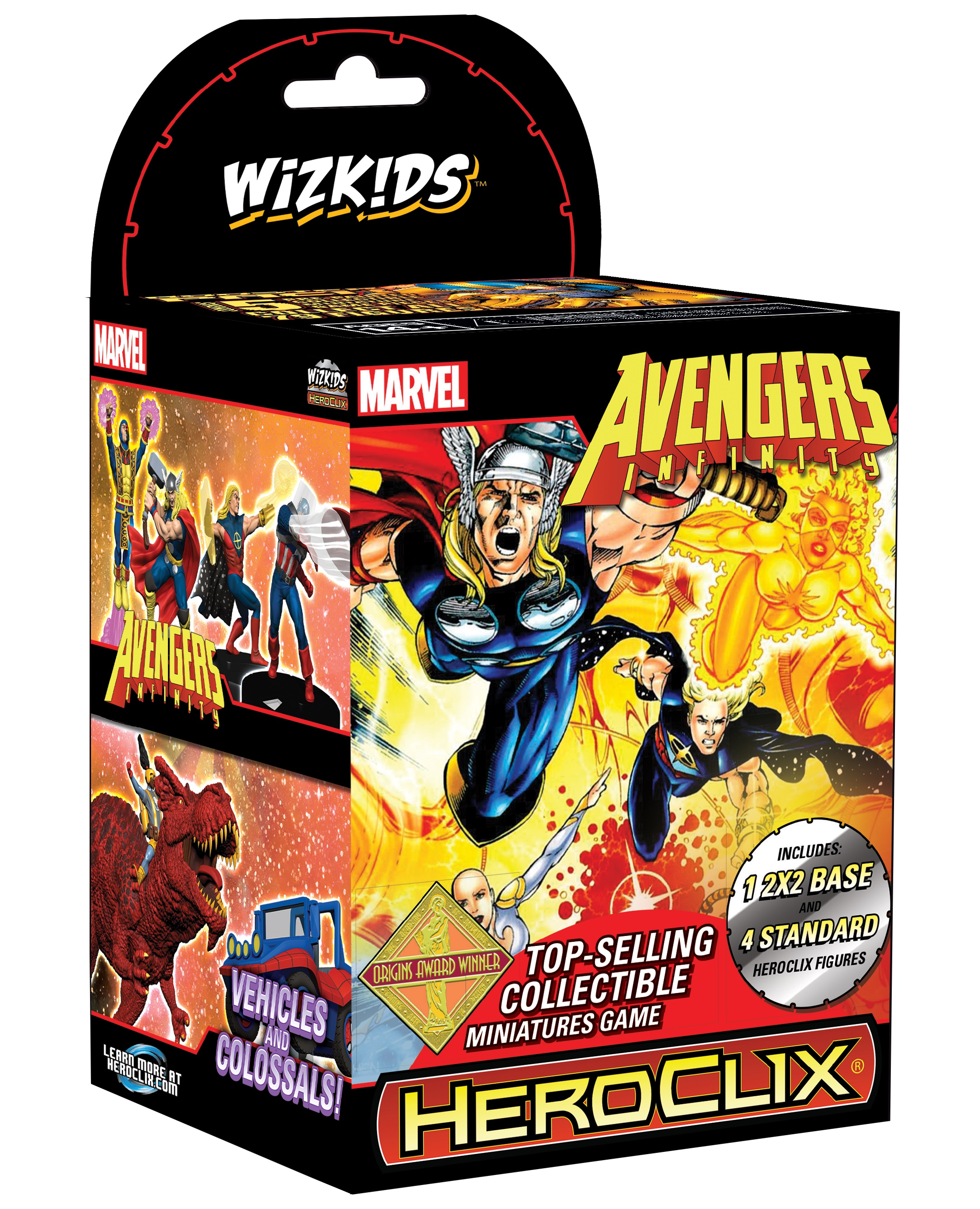 Marvel Heroclix: Avengers Infinity Colossal Booster Brick (10) Box Front