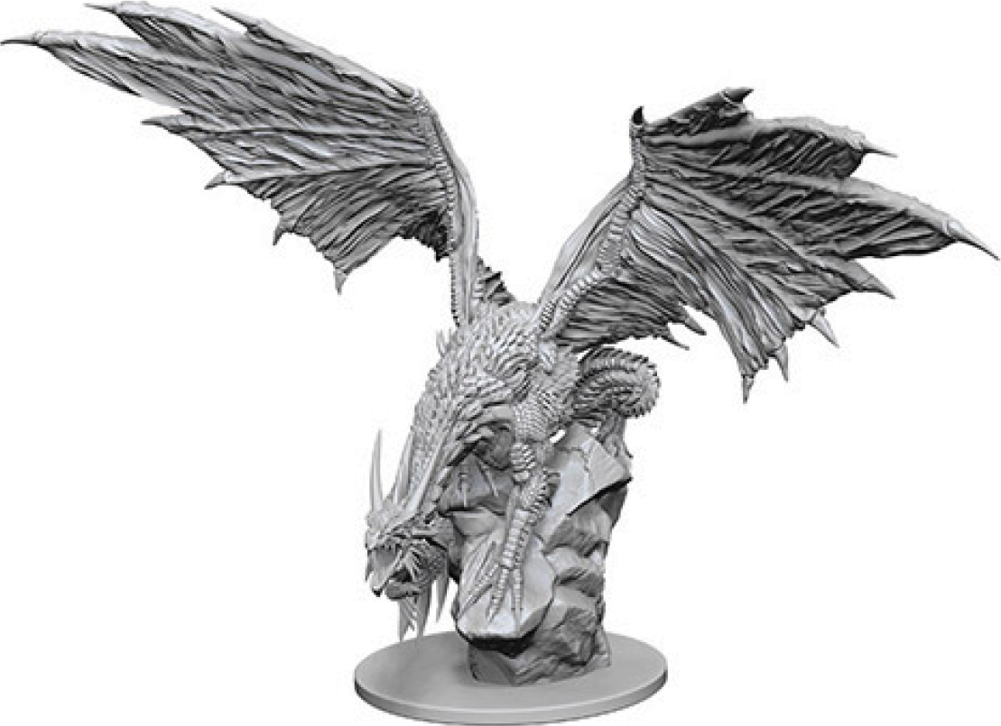 Pathfinder Deep Cuts Unpainted Miniatures: Silver Dragon Box Front