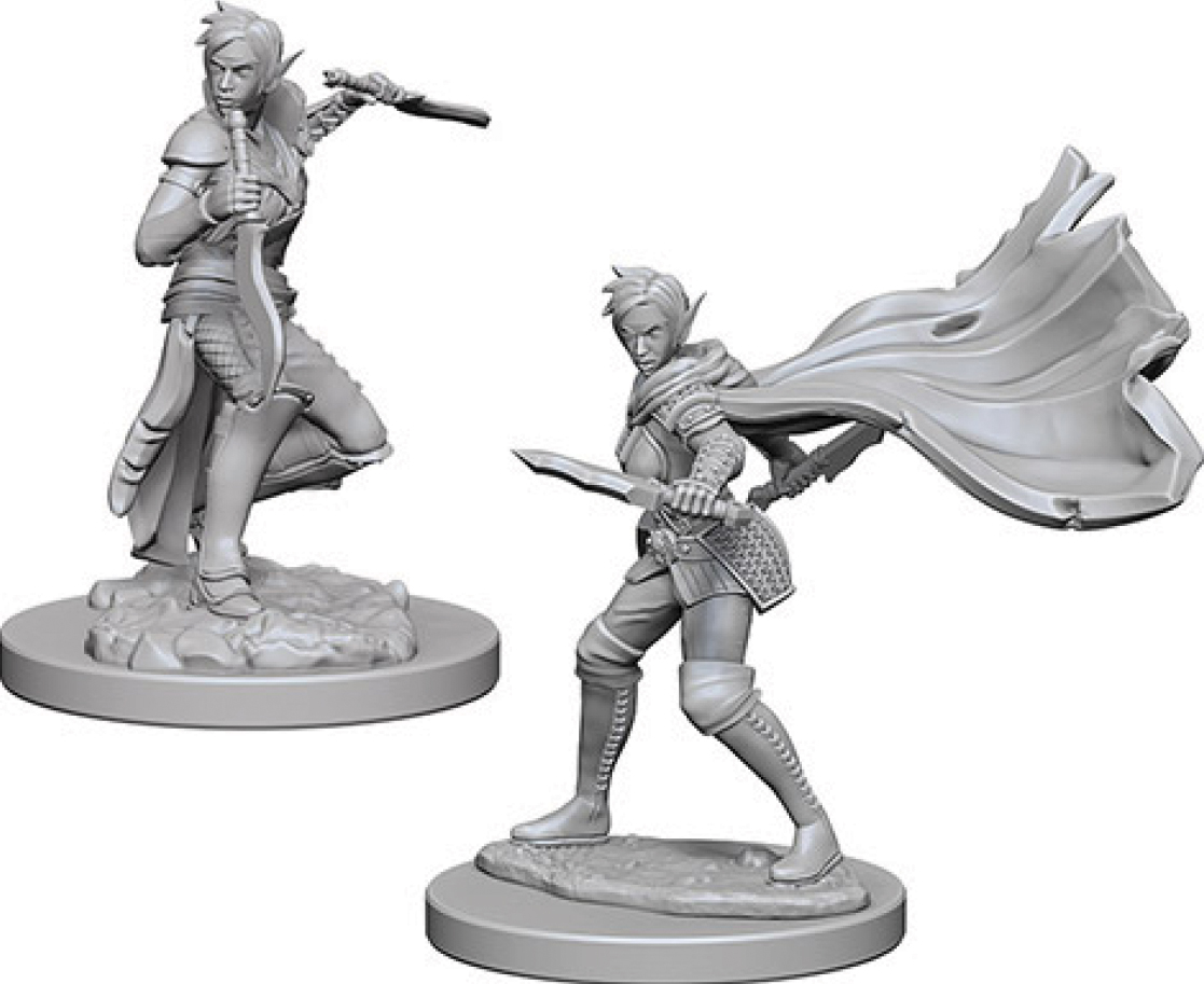 Pathfinder Deep Cuts Unpainted Miniatures: Elf Female Rogue Box Front