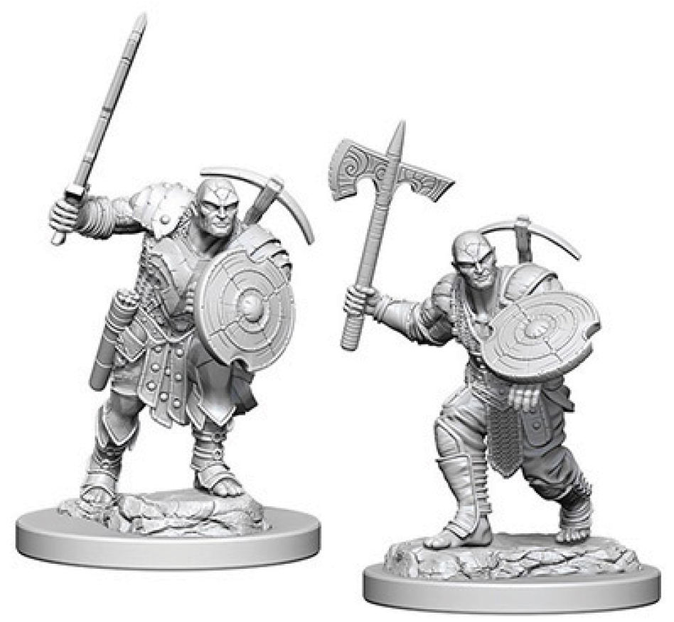 Dungeons & Dragons Nolzur`s Marvelous Unpainted Miniatures: Earth Genasi Male Fighter Box Front