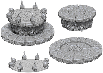 Wizkids Deep Cuts Unpainted Miniatures: Magic Dias Box Front