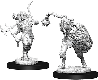 Pathfinder Deep Cuts Unpainted Miniatures: Male Elf Fighter Box Front