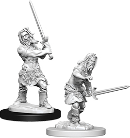 Pathfinder Deep Cuts Unpainted Miniatures: Male Human Barbarian Box Front
