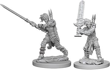 Pathfinder Deep Cuts Unpainted Miniatures: Female Human Barbarian Box Front