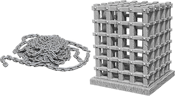 Wizkids Deep Cuts Unpainted Miniatures: Cage & Chains Box Front