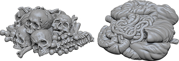 Wizkids Deep Cuts Unpainted Miniatures: Pile Of Bones & Entrails  Box Front