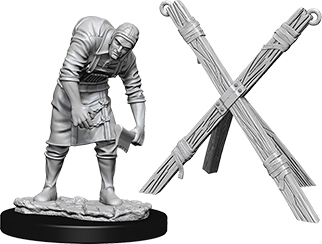 Wizkids Deep Cuts Unpainted Miniatures: Assistant & Torture Cross Box Front