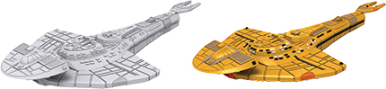 Star Trek Deep Cuts Unpainted Ships: Cardassian Galor Class Box Front