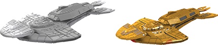 Star Trek Deep Cuts Unpainted Ships: Cardassian Keldon Class Box Front