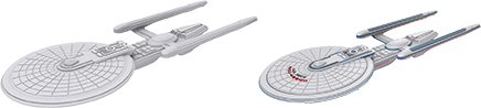 Star Trek Deep Cuts Unpainted Ships: Excelsior Class Box Front