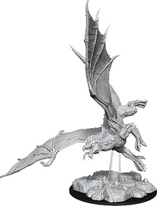 Dungeons & Dragons Nolzur`s Marvelous Unpainted Miniatures: W8 Young Green Dragon Game Box