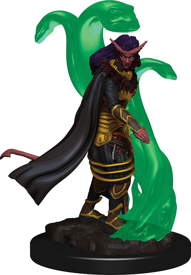 Dungeons & Dragons Icons Of The Realms Premium Figures: W1 Tiefling Female Sorcerer Game Box