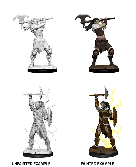 Dungeons & Dragons Nolzur`s Marvelous Unpainted Miniatures: W10 Female Goliath Barbarian Game Box