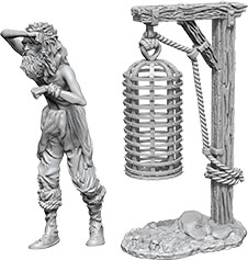 Wizkids Deep Cuts Unpainted Miniatures: W10 Hanging Cage Game Box