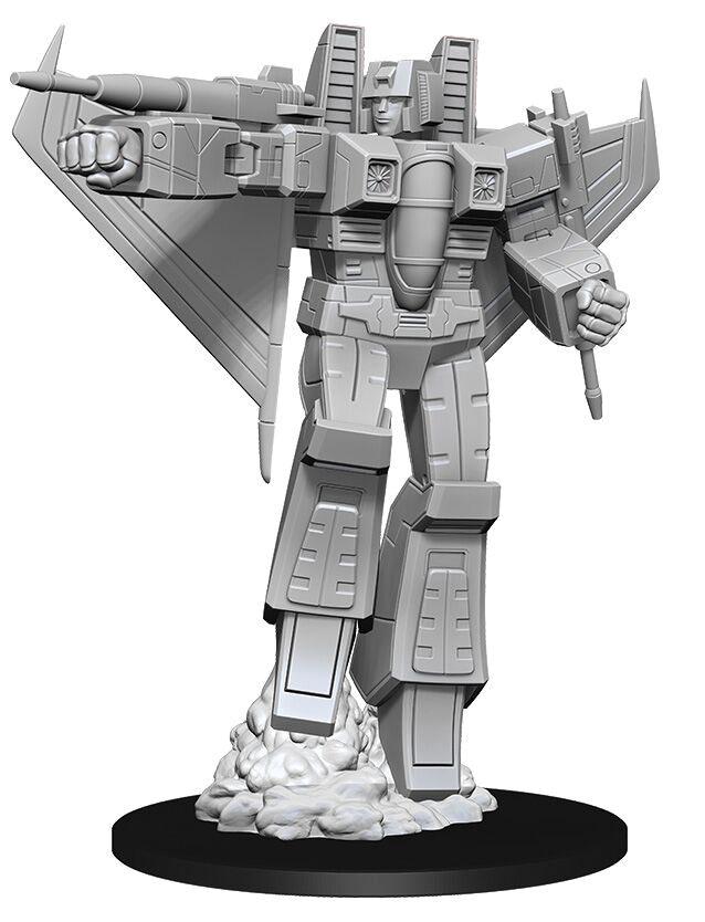 Transformers Deep Cuts Unpainted Miniatures: Starscream Game Box